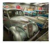 Classic Car Memorabilia Fleece Blanket