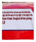 Classic Car With Text Fleece Blanket