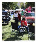 Classic Cars Day Of The Dead II Fleece Blanket