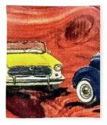 Classic Cars Fleece Blanket