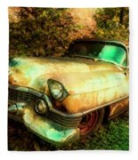 Classic Country Cadillac Painting  Fleece Blanket