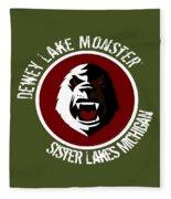 Classic Dlm Logo, Round Fleece Blanket
