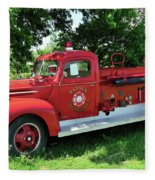 Classic Fire Truck Fleece Blanket