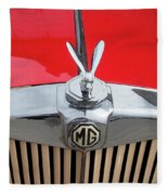1936 Mg Ta Radiator And Mascot Fleece Blanket
