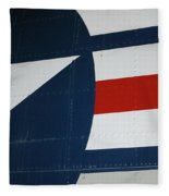 Classic Military Aircraft Abstract- Star 5 Fleece Blanket