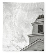 Classic New England Church Etna New Hampshire Fleece Blanket