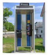 Classic Pay Phone Booth Fleece Blanket