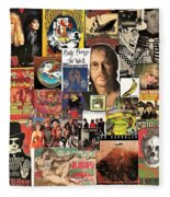 Classic Rock 2 Collage Fleece Blanket