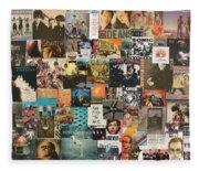 Classic Rock Lp Collage 1 Fleece Blanket