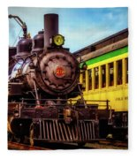 Classic Steam Train No 29 Fleece Blanket