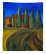 Classic Tuscan Sunset Fleece Blanket