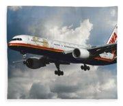 Classic Twa Boeing 757-231 Fleece Blanket