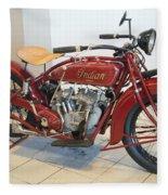 Classic Vintage Indian Motorcycle Red   # Fleece Blanket