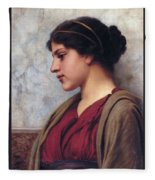 Classical Beauty John William Godward Fleece Blanket