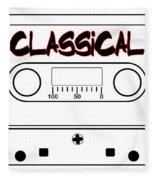 Classical Music Tape Cassette Fleece Blanket