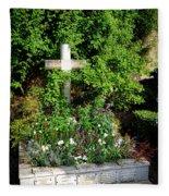 Claude Monet Grave In Giverny Fleece Blanket