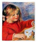 Claude Renoir At Play Sun 1905 Fleece Blanket