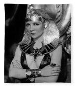 Claudette Colbert In Cleopatra 1934 Fleece Blanket