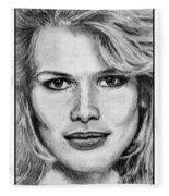Claudia Schiffer In 1992 Fleece Blanket