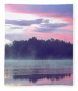 Clay Lake Sunrise Fleece Blanket