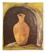 Clay Vase Fleece Blanket