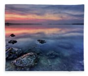 Clear Blue Morning Fleece Blanket