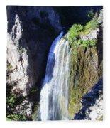 Clear Creek Waterfall  Fleece Blanket