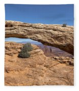Clear Day At Mesa Arch - Canyonlands National Park Fleece Blanket