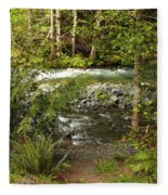 Clear Mountain Stream Fleece Blanket
