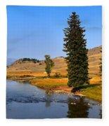 Clear Skies Over Slough Creek Fleece Blanket