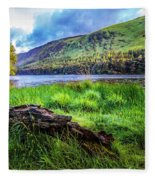 Clear Waters Of Glendalough Fleece Blanket