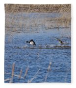Cleared For Takeoff-ring-necked Ducks  Fleece Blanket