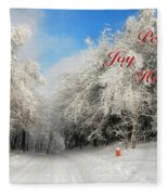 Clearing Skies Christmas Card Fleece Blanket