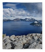 Clearing Storm At Crater Lake Fleece Blanket