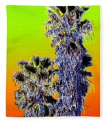 Clearlake Palm Trees Fleece Blanket