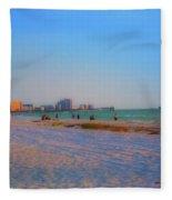 Clearwater Beach Florida Fleece Blanket