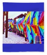 Clearwater Beach Pier 60 Fleece Blanket