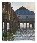 Clearwater Beach Pier Fleece Blanket