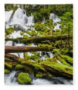 Clearwater Falls And Rapids Fleece Blanket
