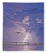 Clearwater Memorial Bridge II Fleece Blanket