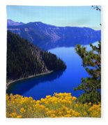 Cleetwood Cove At Crater Lake Fleece Blanket