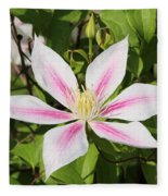 Clematis Andromeda Fleece Blanket