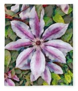 Clematis Camille Fleece Blanket
