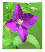 Clematis Fleece Blanket