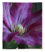 Clematis Close-up Fleece Blanket