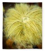 Clematis Flower Head In Fall Fleece Blanket