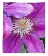 Clematis Flowers Fleece Blanket
