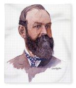 Clement Cornwall Portrait Fleece Blanket