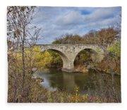 Clement Stone Arch Bridge Fleece Blanket