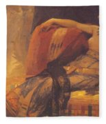 Cleopatra Preparatory Study For Cleopatra Testing Poisons On The Condemned Prisoners Fleece Blanket